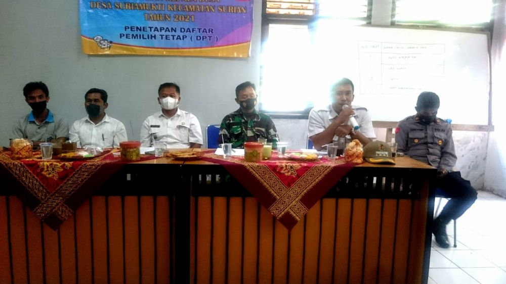 Penetapan Daftar Pemilihan Tetap Desa Suriamukti