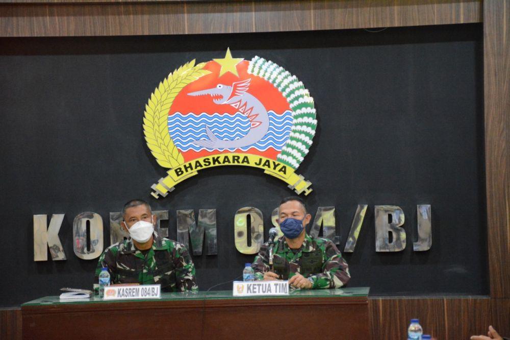 Korem 084/BJ Terima Kunker Tim Wasgiat Fungsi Bidang Latihan Mabes TNI