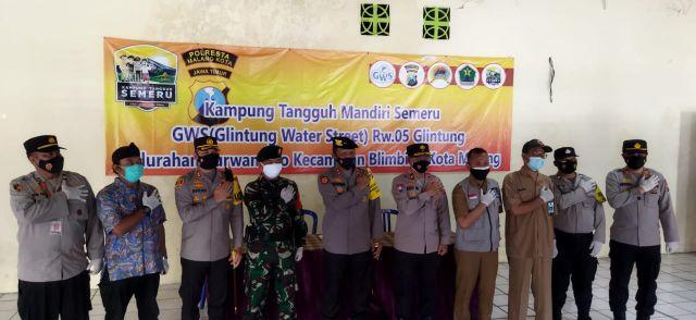 Kunker Kakorsabhara Baharkam Polri ke KTS Glintung Water Street Malang