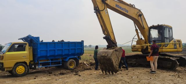 Satreskrim Polres Gresik Grebek Tambang, Sita 2 Excavator dan 7 DT