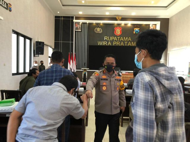 Sinergitas Polresta Banyuwangi dan Jurnalis, Hadapi Pandemi Covid-19