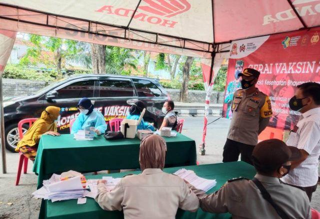 Polres Tanjung Perak Peduli Ampel, Gelar Home Care Vaksin