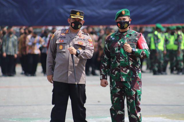 Polres Gresik Ikuti Apel Gelar Pasukan Pengamanan VVIP Kunker Presiden