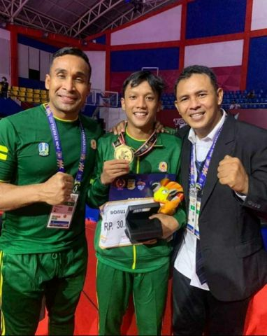 Sumbangkan Medali Emas dari Cabor Karate, Putra Anggota Kodim0830/SU