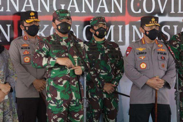 Kapolri dan Panglima TNI Cek Percepatan Serbuan Vaksin Herd Immunity