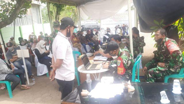 Kodim 0610 Gebyar Vaksin Dosis 1 - 2 di Kecamatan Tanjungsari Sumedang