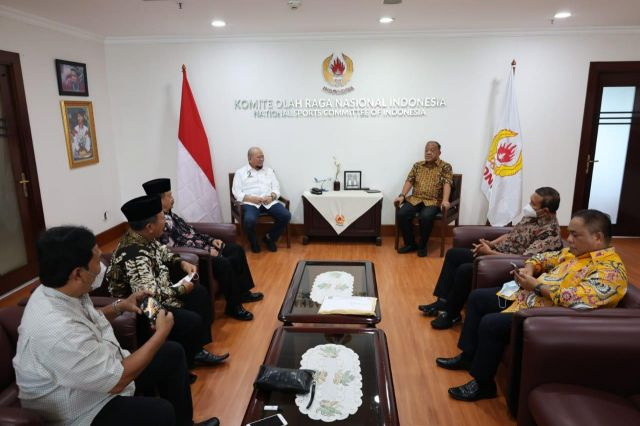 LaNyalla Dampingi Pengurus PSHT Temui Ketua Umum KONI